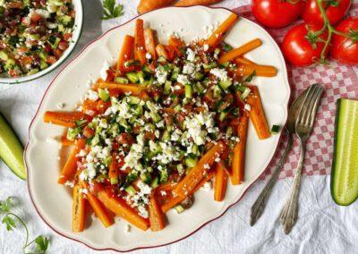 "Griekse ""loaded"" wortelfrieten"